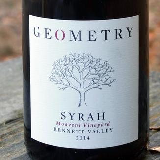 Geometry Wines 2014 Bennett Valley Moaveni Vineyard Syrah 750ml Wine Label
