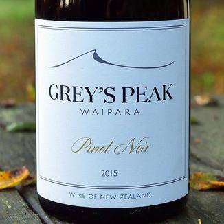 Greystone Wines 2015 Grey's Peak Waipara Pinot Noir 750ml Wine Label