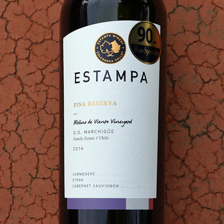 Estampa 2014 Fina Reserva D.O. Marchigüe Family Estate Carmenere Blend 750ml Wine Label