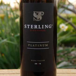 Sterling Vineyards 2013 Sterling Vineyards Platinum Napa Valley Cabernet Sauvignon 750ml Wine Label