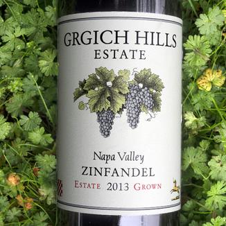 Grgich Hills Estate 2013 Napa Valley Estate Grown Zinfandel 750ml Wine Label