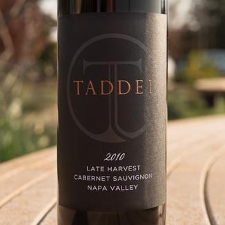 Taddei Wines 2010 Late Harvest Napa Valley Cabernet Sauvignon 750ml Wine Label