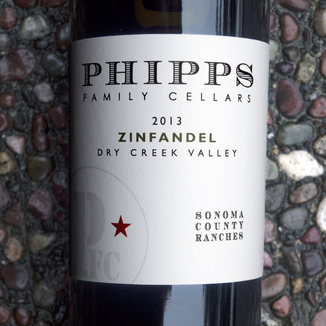 Phipps Family Cellars 2013 Sonoma County Ranches Dry Creek Valley Zinfandel 750ml Wine Bottle