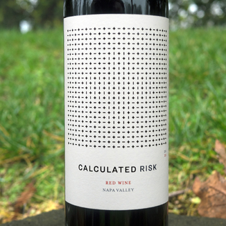 Calculated Risk 2015 Red Wine Napa Valley 750ml Wine Label