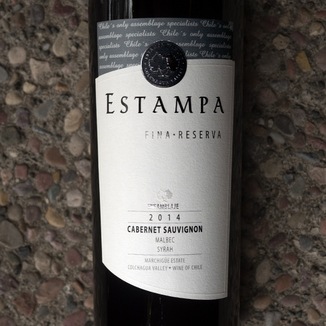 Estampa 2014 Marchigüe Estate Colchagua Valley Cabernet Sauvignon 750ml Wine Label