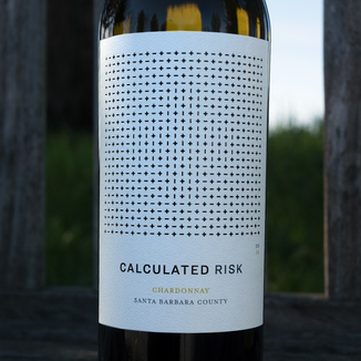 Calculated Risk 2016 Santa Barbara County Chardonnay 750ml Wine Bottle