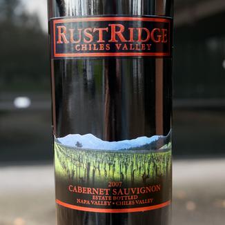 RustRidge Winery 2007 Chiles Valley Napa Valley Estate Bottled Cabernet Sauvignon 750ml Wine Bottle