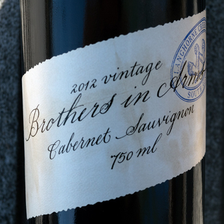Brothers In Arms 2012 Cabernet Sauvignon 750ml Wine Label