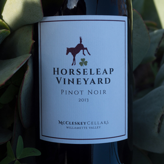 McCleskey Cellars 2015 Horseleap Vineyards Willamette Valley Estate Pinot Noir 750ml Wine Label