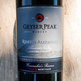 Geyser Peak Winery 2013 Reserve Alexandre Alexander Valley Sonoma County Winemaker's Reserve Meritage 750ml Wine Label