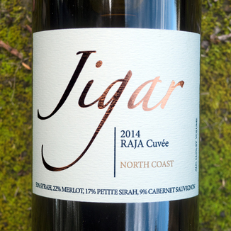 Jigar Wines 2014 North Coast Raja Cuvée 750ml Wine Bottle