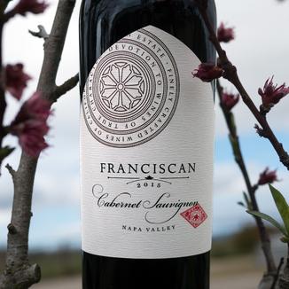 Franciscan Estate 2015 Napa Valley Cabernet Sauvignon 750ml Wine Label