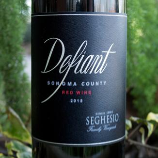 Seghesio Family Vineyards 2015 Defiant Sonoma County Red Wine 750ml Wine Label