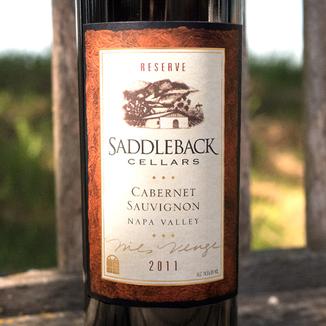 Saddleback Cellars 2011 Reserve Napa Valley Cabernet Sauvignon 750ml Wine Bottle