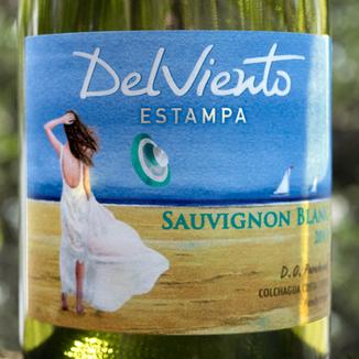 Estampa 2017 Del Viento D.O. Paredones Colchagua Costa Chile Sauvignon Blanc 750ml Wine Label