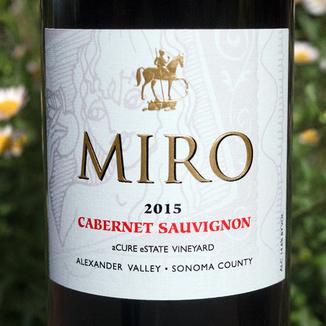 Miro Cellars 2015 aCure eState Vineyard Alexander Valley Sonoma County Cabernet Sauvignon 750ml Wine Label