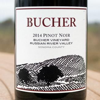 Bucher 2014 Bucher Vineyard Russian River Valley Sonoma County Pinot Noir 750ml Wine Label