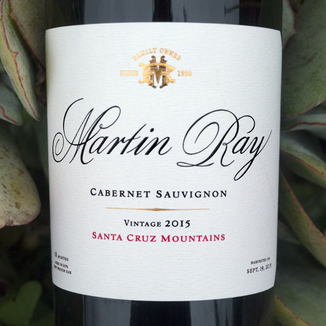 Martin Ray Winery 2015 Santa Cruz Mountains Cabernet Sauvignon 750ml Wine Label