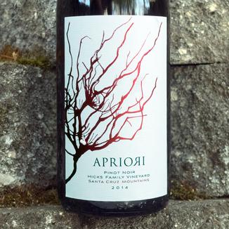 Apriori Cellar 2014 Hicks Family Vineyard Santa Cruz Mountains Pinot Noir 750ml Wine Bottle