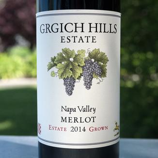 Grgich Hills Estate 2014 Estate Grown Napa Valley Merlot 750ml Wine Label