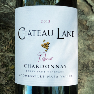 Chateau Lane 2013 Reserve Berry Lane Vineyard Coombsville Napa Valley Chardonnay 750ml Wine Bottle