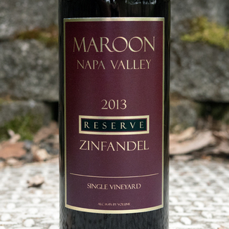 Maroon Wines 2013 Reserve Napa Valley Single Vineyard Zinfandel 750ml Wine Label