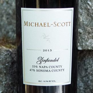 Michael-Scott 2013 Napa/Sonoma County Zinfandel 750ml Wine Label