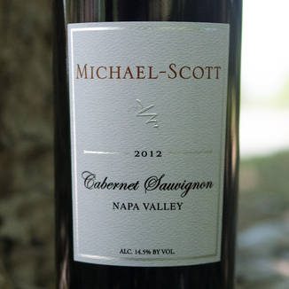 Michael-Scott 2012 Napa Valley Cabernet Sauvignon 750ml Wine Bottle