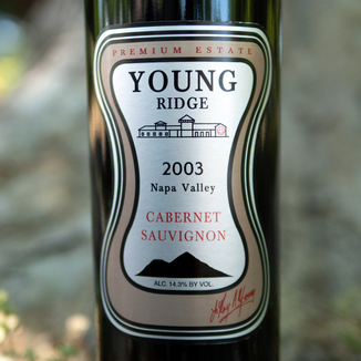 Young Ridge 2003 Premium Estate Napa Valley Cabernet Sauvignon 750ml Wine Label