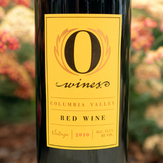 O Wines 2010 Columbia Valley Red Wine 750ml Wine Bottle