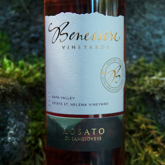 Benessere Vineyards 2017 Estate St. Helena Vineyard Napa Valley Rosato Di Sangiovese 750ml Wine Label
