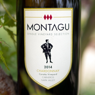 Montagu 2014 Single Vineyard Selection Corotto Vineyard Carneros Napa Valley Chardonnay 750ml Wine Label