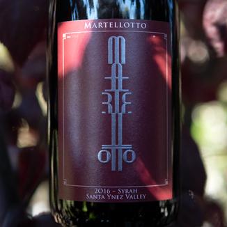 Martellotto Wines 2016 Santa Ynez Valley Syrah 750ml Wine Bottle