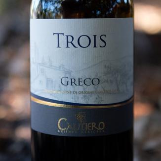 """Cautiero Azienda Agricola 2014 """"Trois"""" Sannio Greco DOC 750ml Wine Label"""
