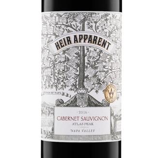 "Grand Napa Wine 2016 ""Heir Apparent"" Atlas Peak Napa Valley Cabernet Sauvignon 750ml Wine Label"