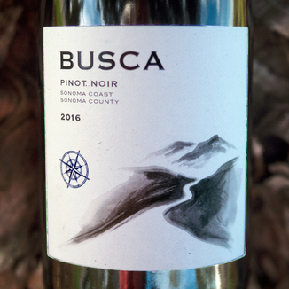Busca Wines 2016 Sonoma Coast Sonoma County Pinot Noir 750ml Wine Bottle