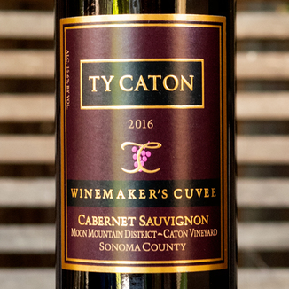 Ty Caton Vineyards 2016 'Winemaker's Cuvee' Moon Mountain Estate Cabernet Sauvignon 750ml Wine Label
