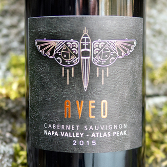 Aveo Wines 2015 Napa Valley Atlas Peak Cabernet Sauvignon 750ml Wine Label