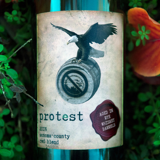 "Chateau Diana 2016 ""Protest"" Sonoma County Red Blend 750ml Wine Label"