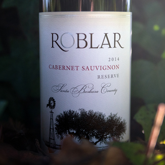 Roblar 2014 Santa Barbara County Cabernet Sauvignon Reserve 750ml Wine Label