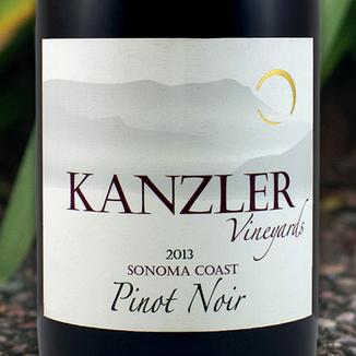 Kanzler Vineyards 2013 Sonoma Coast Pinot Noir 750ml Wine Label