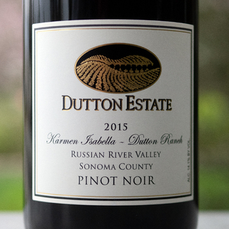 Dutton Estate Winery 2015 Russian River Valley Sonoma County Karmen Isabella Pinot Noir 750ml Wine Label
