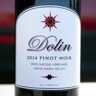 Dolin Malibu Estate Vineyards 2014 Bien Nacido Vineyard Santa Maria Valley Pinot Noir 750ml Wine Label