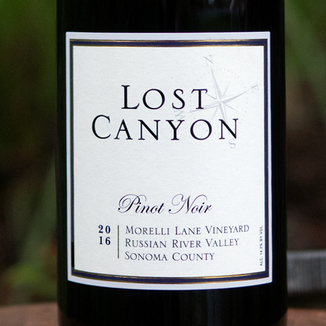 Lost Canyon Winery 2016 Morelli Lane Vineyard Russian River Valley Pinot Noir 750ml Wine Label