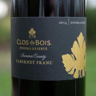 Clos du Bois 2014 Sonoma County Sonoma Reserve Cabernet Franc 750ml Wine Label