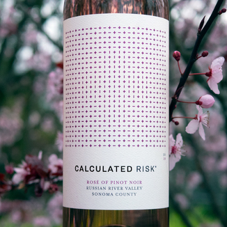 Calculated Risk 2018 Russian River Valley Sonoma County Rose of Pinot Noir 750ml Wine Label