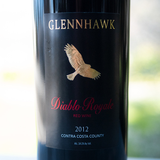 Glennhawk Vineyards 2012 Contra Costa County Diablo Royal Red Wine 750ml Wine Label
