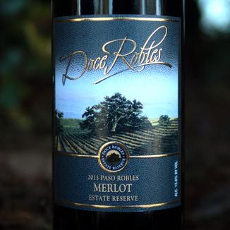 Doce Robles 2013 Paso Robles Estate Reserve Merlot 750ml Wine Label