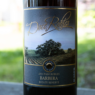 Doce Robles 2013 Paso Robles Estate Reserve Barbera 750ml Wine Label