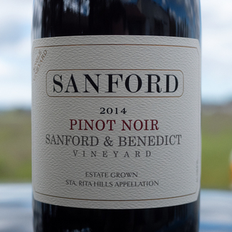 Sanford Winery 2014 Sanford & Benedict Vineyard Estate Sta. Rita Hills Pinot Noir 750ml Wine Label